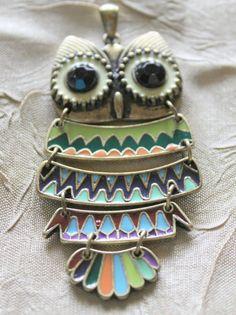 Owl Pendant Large Owl Pendant 3 Inches High by EmbellishByAndrea, $3.95