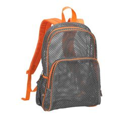 mesh backpack - love the orange and gray. Great boy colored option!