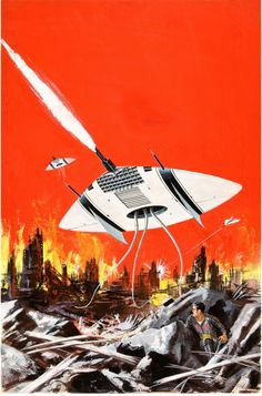 talesfromweirdland: Ed Valigursky cover art for the 1960 sci-fi...