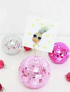 diy disco ball photo holders! (perfect for Mother's Day)