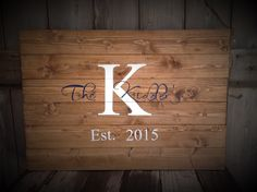 Guest Book Sign, Established Sign, The ___ last name Sign, Rustic Sign, Rustic Decor, Rustic Wedding, Sign with Initial & Date, size 30x20 by SimplymadesignsbyB on Etsy