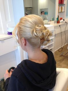 Side view of updo soft elegant