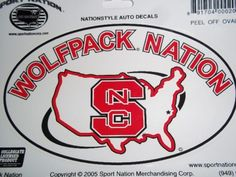 nc state wolfpack vehicles | NC STATE COLLEGE DECAL TRUCK CAR WINDOW CAMPER LICENSED STICKER BOOKS ...