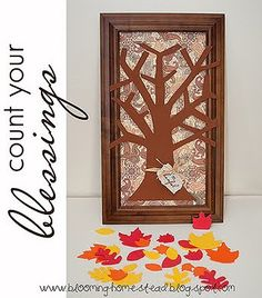 thankful tree in frame