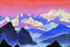 Secrets of Shambhala Inspired by and featuring the Artwork of Nicholas Roerich, a true artist. Russian Painting, Russian Art, Landscape Art, Landscape Paintings, Oil Paintings, Landscapes, Nicholas Roerich, Starry Night Art, Mountain Paintings