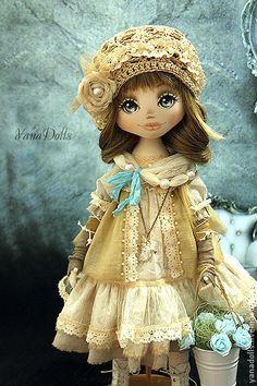 Коллекционные куклы ручной работы. Veronika. YanaDolls. Ярмарка Мастеров. Коллекционная кукла, цветы, трикотаж, бусины