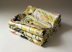 Painting folded ten times. Margie Livingston.