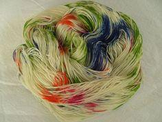 ♥ Sockenwolle / Tuchwolle  Konfetti  ♥ 100% Merino ♥ Handgefärbt ♥ MK005