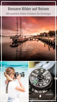 Du willst endlich bessere Bilder von deinen Reisen haben? Egal ob unterwegs, im Urlaub oder auf Weltreise - wir zeigen dir wie es geht! Mit unserem Online Fotokurs für Einsteiger lernst du in weniger als 90 Minuten die wichtigsten Basics der Fotografie und Bildbearbeitung, die du für professionelle Aufnahmen brauchst. So bekommen deine Bilder endlich mehr Aufmerksamkeit. #fotografierenlernen #fotografie #lernen #kamera #einsteiger #besserefotos #reisebilder #weltreise Italy Travel, Us Travel, Travel Mug, Travel Plan, Pictures Of You, Cool Pictures, Unique Hotels, Aesthetic Wallpapers, Photography Tips