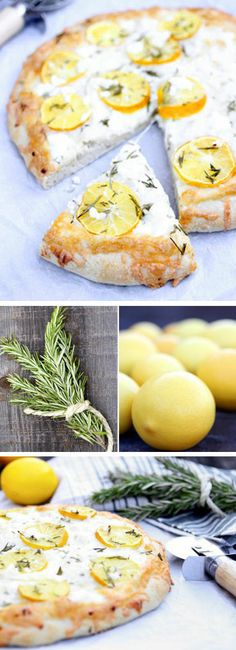 Meyer Lemon Pizza ♥ I could make it with gluten free dough.