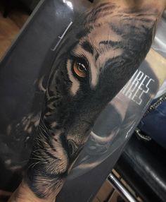 Tiger Face, Mens Forearm Piece | Tattoo Ideas