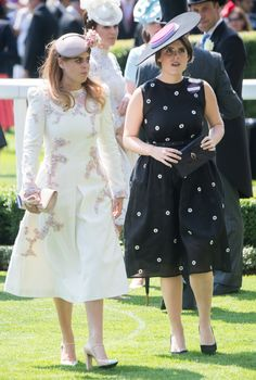 Princess Beatrice of York and Princess Eugenie of York attend Royal Ascot 2017 at Ascot Racecourse on June 20, 2017 in Ascot, England.