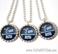 Navy blue Cheerleader gift Cheerleader jewelry by yayadiyclub, $5.99