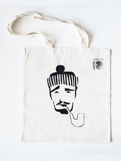 tote bag, cotton, hand made, grapihc