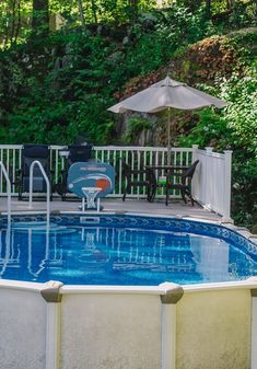 Above Ground Pools are the most effective alternative for resident who want a swimming pool however aren't ready for the much more costly choice of putting in an in-ground pool. Above Ground Pool, In Ground Pools, Bliss, Swimming Pools, New Homes, Backyard, Outdoor Decor, Ideas, Swiming Pool