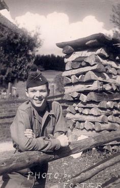 Rare photo of Audie Murphy somewhere in Germany during World War II