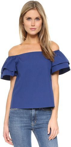 Alice + Olivia Loryn Off Shoulder Top - ShopStyle Fashion 2017, Love Fashion, Girl Fashion, Fashion Tips, Fashion Design, Shoulder Shirts, Off Shoulder Tops, Cool Outfits, Casual Outfits