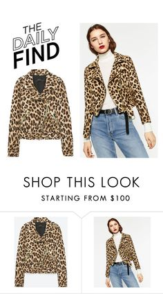 """The Daily Find: Zara Jacket"" by polyvore-editorial ❤ liked on Polyvore featuring DailyFind"