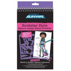 Project Runway Rockstar Style Fashion Design Sketch Portfolio