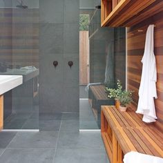 Story and styling by @textstyle.nz & photos by Emma MacDonald. #bathroomreno #poolroom #yourhomeandgarden