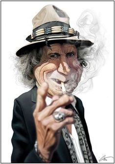 Keith Richards (caricature) http://dunway.us                                                                                                                                                     More