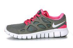 Nike Free Run+2 Women Gray Rose