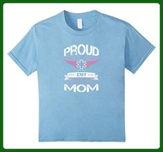 Kids Proud Mom EMT Flight Wings T-shirt 6 Baby Blue - Relatives and family shirts (*Amazon Partner-Link)