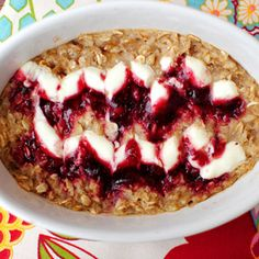 Raspberry Cheesecake Oatmeal; So many awesome oatmeal recipes for winter.