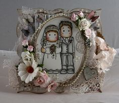 Audhilds Hobbyblogg Magnolia Wedding, Marker Art, Copic, Grapevine Wreath, Grape Vines, Markers, Boxes, Crafts, Decor