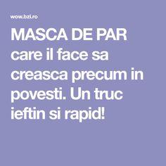 MASCA DE PAR care il face sa creasca precum in povesti. Un truc ieftin si rapid! Health Fitness, Hair Beauty, Vegan, Shake, Projects, Medicine, Pharmacy, The Body, Log Projects