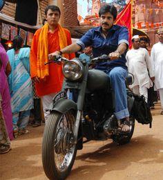 Pawan Kalyan's bike to debut in Gopala Gopala: http://www.thehansindia.com/posts/index/2014-06-23/Pawan-Kalyans-bike-to-debut-in-Gopala-Gopala-99321