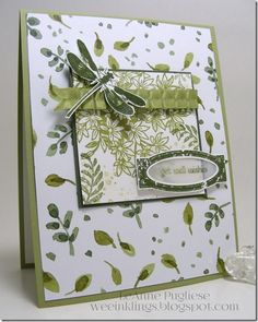 LeAnne Pugliese WeeInklings Awesomely Artistic Stampin Up Get Well, English Garden dsp
