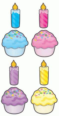 Cut-Out Buddies Cupcakes – Kerzen – Typical Miracle Birthday Wall, Birthday Board, Cupcake Birthday, Birthday Cup, Classroom Board, Classroom Decor, English Activities, Preschool Activities, Teacher Supplies