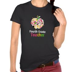 4th grade Teacher Paint Splatter Apple T Shirt  Click on photo to purchase. Check out all current coupon offers and save! http://www.zazzle.com/coupons?rf=238785193994622463&tc=pin
