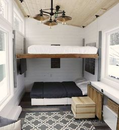 Drop-down Bed! And couch/Bed Under is a Great/Cozy Living Room