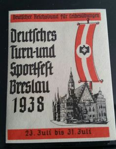 Sports festival stamp of Breslau, Germany in 1938.