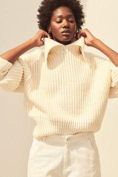 H&M Collared Rib-Knit Sweater