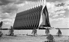 Skidmore Owings and Merrill's United States Air Force Academy in Colorado Springs is one of Modernism's triumphs — perhaps the most successful campus ever created as a single International Style work.