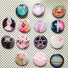 Pastel Goth Soft Grunge Kawaii Set Of 14 by GeekFreakSupply, $21.00