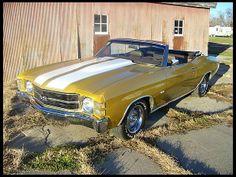 1971 Chevrolet Chevelle Convertible 350 CI, Automatic #Mecum #KansasCity