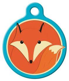 $12.99 Dog Tag Art Lupine Foxy Paws - DTA-LL003