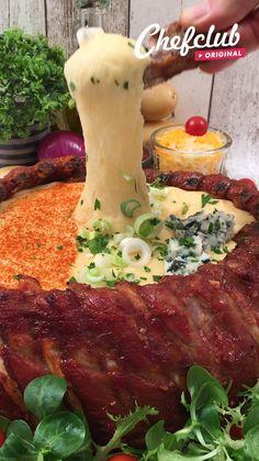 Pork Belly Recipes, Rib Recipes, Mexican Food Recipes, Cooking Recipes, Tasty Videos, Food Videos, Oven Baked Pork Ribs, Snacks Für Party, Aesthetic Food