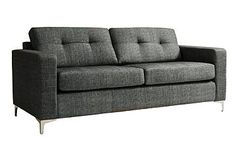 is this horrible? - its probably too masculine but, maybe not with other bits around it? maaayyybe? dunno. Sofa, Couch, Love Seat, House Styles, Furniture, Home Decor, Settee, Settee, Decoration Home