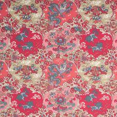 Cranberry Pink Misc Cotton Poplin Print - Fashion Fabrics