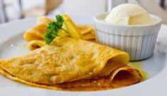 Crepe suzette with orange sauce and vanilla ice cream at Foodlogy French-Italian Restaurant, Sentul.