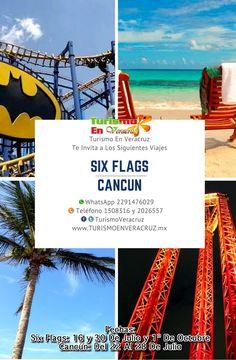 Vámonos de viaje este mes de julio a #Cancún o #SixFlags más información en http://www.turismoenveracruz.mx/   RESERVA AHORA Más información en: Tels: 01 (229) 202 65 57 y 150 83 16  WhatsApp: 2291476029 y 2291508316 Email / Hangouts: turismoenveracruz@gmail.com
