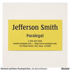Minimalist And Plain Paralegal Business Card Paralegal Business