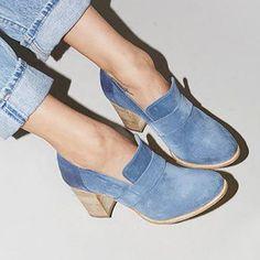 Women's Shoes,Boot,Women Solid Thick Heel Elegant High Heel Cute Work Slip-On Boots,Misslook Chunky Heel Shoes, Chunky High Heels, Thick Heels, High Heel Boots, Heeled Boots, Ankle Boots, Chunky Boots, Buy Boots, Slip On Boots
