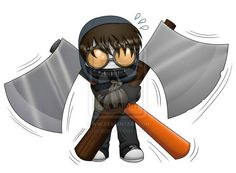 Ticci Toby chibi... it's too heavy for you, toby...