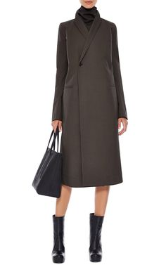 Arche Double-Breasted Coat by Rick Owens - Moda Operandi Tailored Coat, Cape Coat, Double Breasted Coat, Rick Owens, Duster Coat, Dresses For Work, Street Style, Coats, Jackets